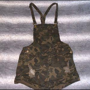 American Bazi army denim overalls